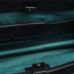 Bvlgari Black Leather  Serpenti Forever Double Flap Shoulder Bag
