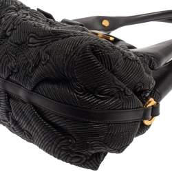 Bvlgari Black Leather Chandra Hobo