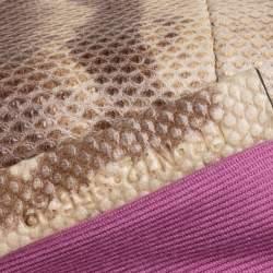 Bvlgari Beige Karung Large Serpenti Forever Flap Shoulder Bag
