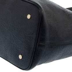 Bvlgari Black Soft Leather Sotirio Tote