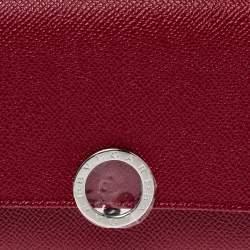Bvlgari Red Leather Bvlgari Bvlgari Continental Wallet
