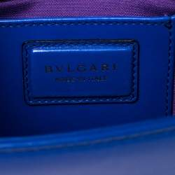 Bvlgari Blue Leather Serpenti Forever Flap Shoulder Bag