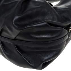 Bvlgari Black Leather Chandra Satchel