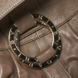 Bvlgari Dark Beige Leather Chandra Hobo