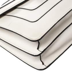 Bvlgari Cream Leather Medium Serpenti Forever Shoulder Bag
