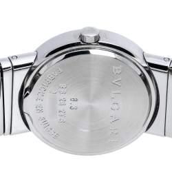 Bvlgari Black Stainless Steel Diamond Tubogas BB262TS Women's Wristwatch 26 mm