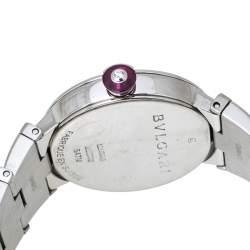 Bvlgari White Mother of Pearl Stainless Steel LVCEA LU28S Women's Wristwatch 28 mm