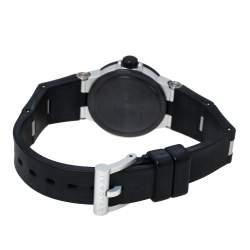 Bvlgari Carbon Fiber Aluminum and Black Rubber Diagono AL 29 TA Women's Wristwatch 29 mm