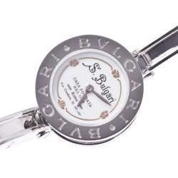 Bvlgari White Stainless Steel B-Zero Bangle Women's Wristwatch 22 MM