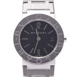 Bvlgari Black Stainless Steel Bvlgari BB26SS Quartz Women's Wristwatch 26 MM