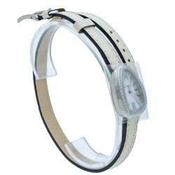 Bvlgari Serpenti White Mother Of Pearl Steel & Diamond Watch 27 MM