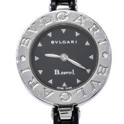 Bvlgari Black Stainless Steel Black Resin B.Zero1 BZ 22 S Women's Wristwatch 22 mm