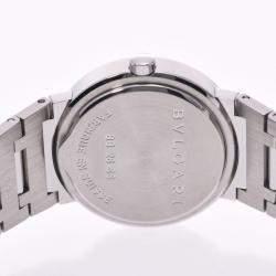 Bvlgari Black Stainless Steel Bvlgari BB26SS Women's Wristwatch 26 MM