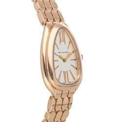 Bvlgari Silver 18K Rose Gold Serpenti Seduttori 103145 Women's Wristwatch 33 MM