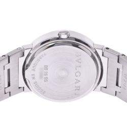 Bvlgari Black Stainless Steel Diagono BB26 Quartz Women's Wristwatch 26 MM
