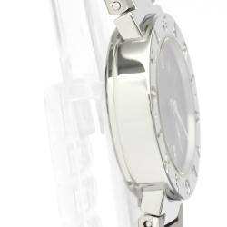 Bvlgari Black Stainless Steel BB23SS Women's Wristwatch 23 MM