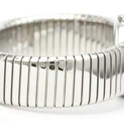 Bvlgari Black Stainless Steel Tubogas BB232TS Quartz Women's Wristwatch 23 MM