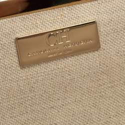 Carolina Herrera Magenta Quilted Leather Chain Clutch