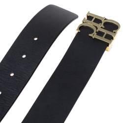 حزام كارولينا هيريرا شعار الماركة سي أتش أتش سي جلد أسود 90 سم