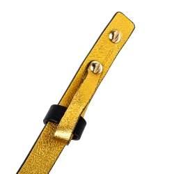 Carolina Herrera Black Leather Bow Slim Belt 80 CM