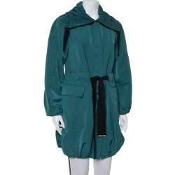 CH Carolina Herrera Green Synthetic Belted Utility Jacket S
