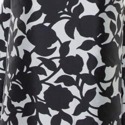 CH Carolina Herrera Monochrome Printed Scoop Back Sleeveless Gown L