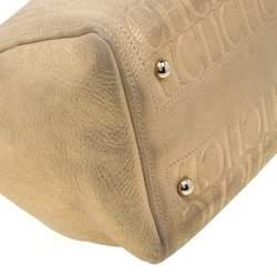 Carolina Herrera Gold Metallic Leather Andy Boston Bag