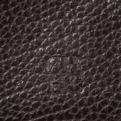 Carolina Herrera Burgundy Leather Long Trifold Wallet