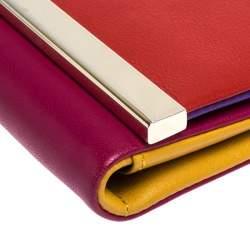 Carolina Herrera Multicolor Leather Trifold Continental Wallet