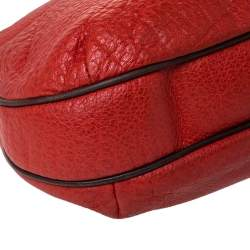 Carolina Herrera Orange/Brown logo Leather Braided Handle Hobo