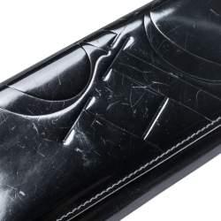Carolina Herrera Black Patent Leather Continental Wallet