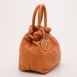 Carolina Herrera Orange Pleated Bag