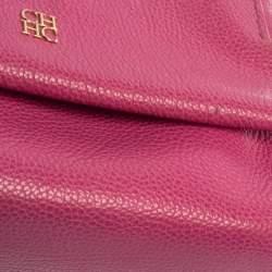 Carolina Herrera Pink Leather Mini Minuetto Top Handle Bag