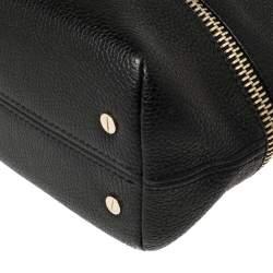 Carolina Herrera Black Leather Zipped Hobo