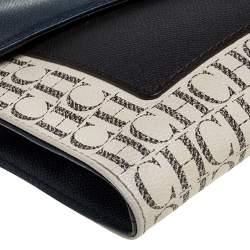Carolina Herrera Multicolor Monogram Coated Canvas and Leather Envelope Flap Shoulder Bag