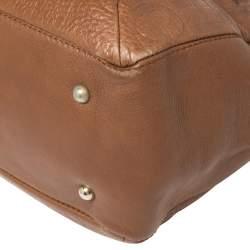 Carolina Herrera Brown Monogram Leather Audrey Tote
