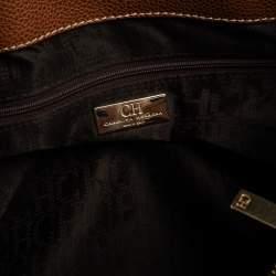 Carolina Herrera Brown Leather Matteo Tote