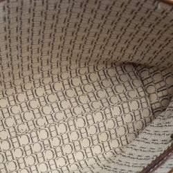 Carolina Herrera Gold Monogram Embossed Leather Tote