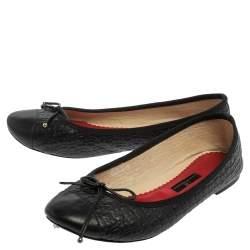 Carolina Herrera Black Leather Ballet Flats Size 40