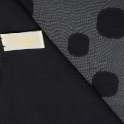 Cartier Black Logo Monogram Silk Jacquard Stole
