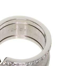 Cartier Double C de Cartier 18K White Gold Diamond Ring Size 48