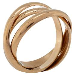 Cartier Trinity 18K Rose Gold Ring Size 64