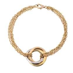 Cartier Trinity 18K Three Tone Gold Bracelet