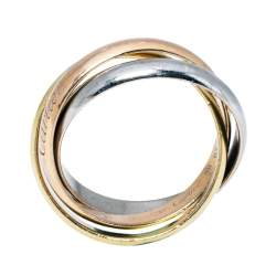 Cartier Trinity De Cartier 18K Three Tone Gold Ring Size 58