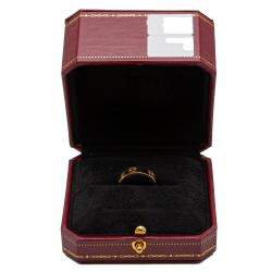 Cartier Love Yellow Gold Band Ring Size 50