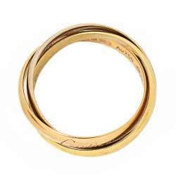 Cartier Trinity 18K Three Tone Gold Ring Size 52
