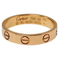 Cartier Love 18K Rose Gold Wedding Band Ring Size 52
