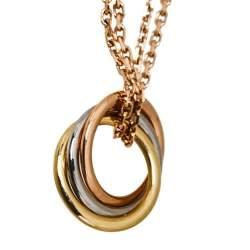 Cartier Trinity De Cartier 18K Three Tone Gold Necklace