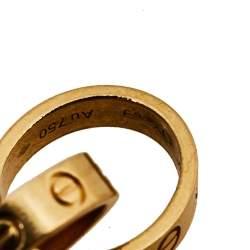 Cartier Love Screw Motif 18K Yellow Gold Bracelet