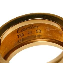 Cartier Love Cone Diamond 18K Yellow Gold Ring Size 53